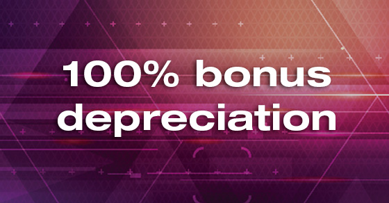 The TCJA temporarily expands bonus depreciation